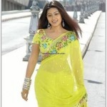 Sneha in yellow Saree