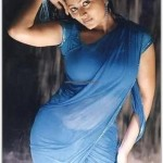 Sneha in blue Saree