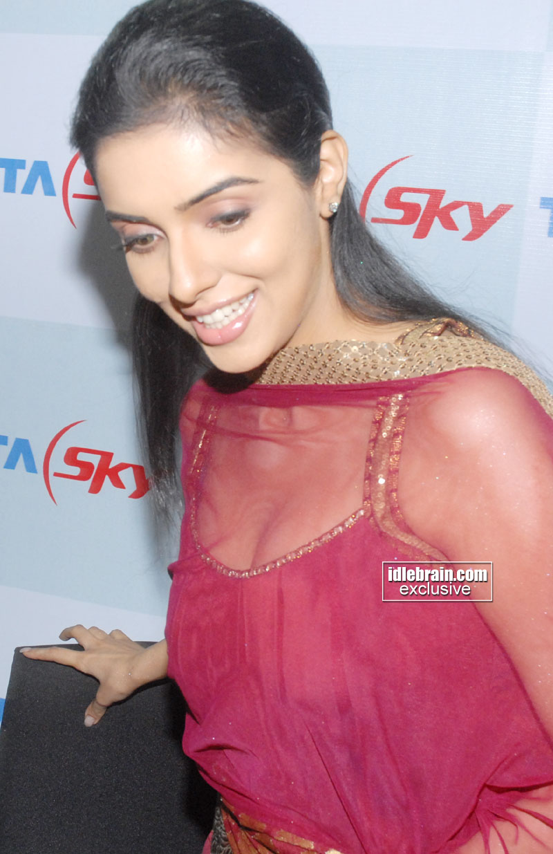 Actress Asin in tata sky