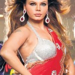 Rakhi Sawant hot saree 150x150 Rakhi Sawant Hot Cleavage Navel Photos