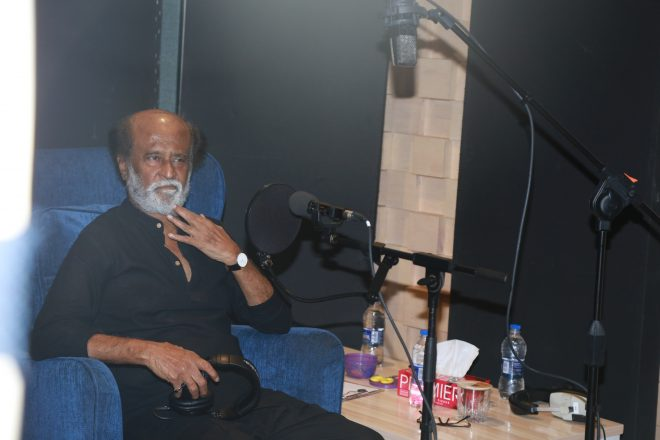 Rajini Kaala Dubbing photos and stills