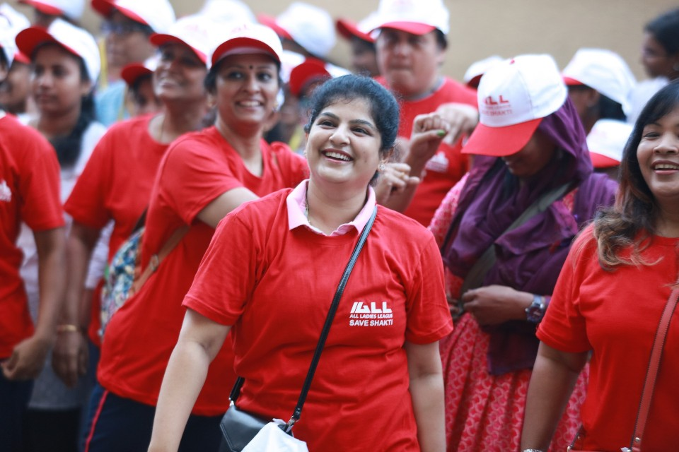 walk a mile in her shoes event stills 01 Actress Varalakshmi Against Domestic Violence
