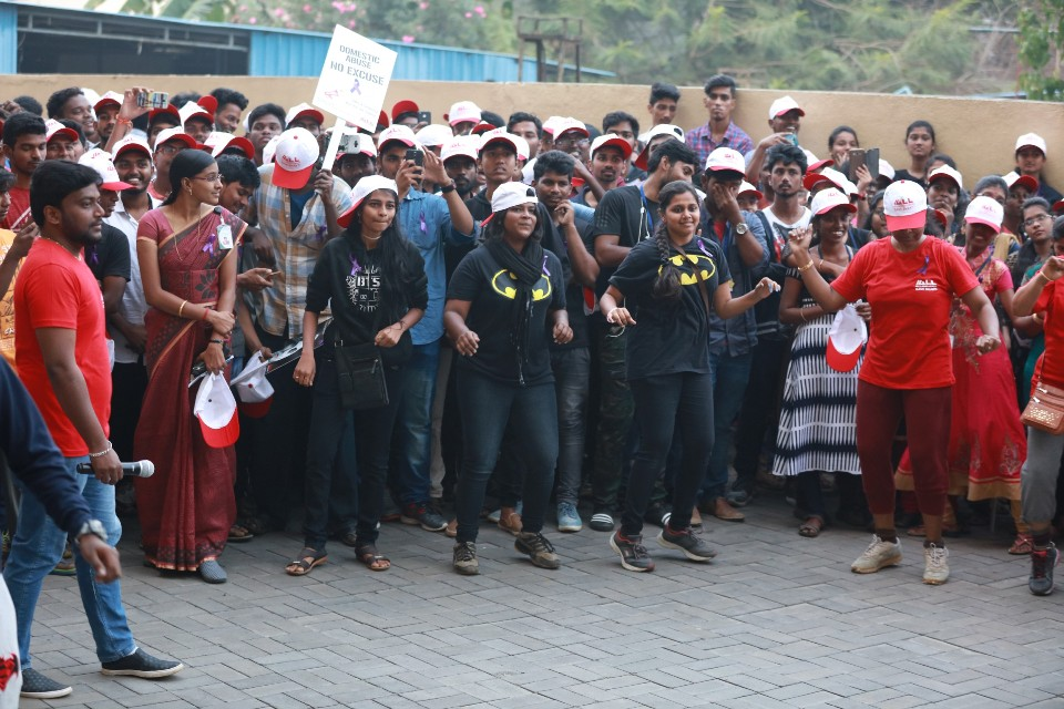 walk a mile in her shoes event stills 06 Actress Varalakshmi Against Domestic Violence