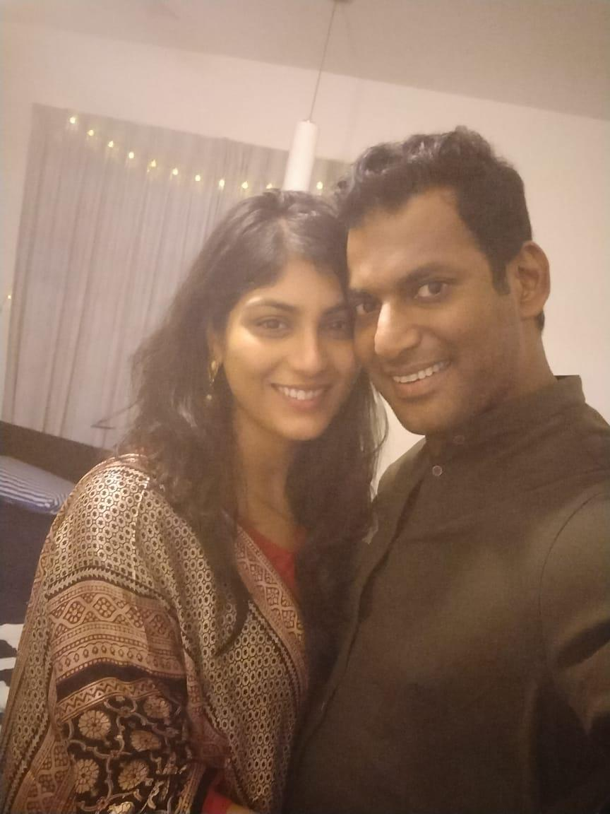 Actor Vishal fiance Anisha Reddy Photos