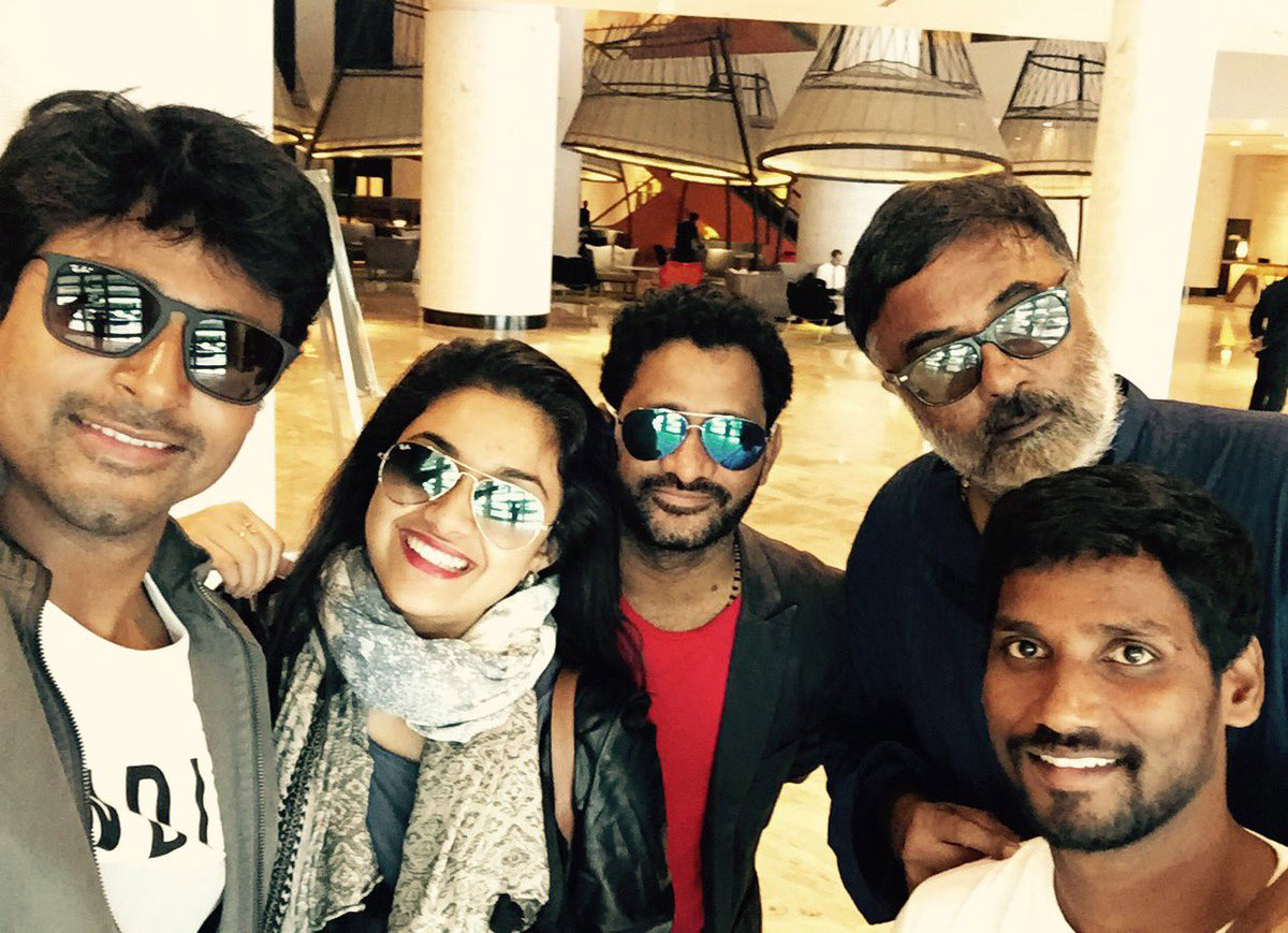 keerthy suresh siva karthikeyan movie spot selfie actor actress selfie images