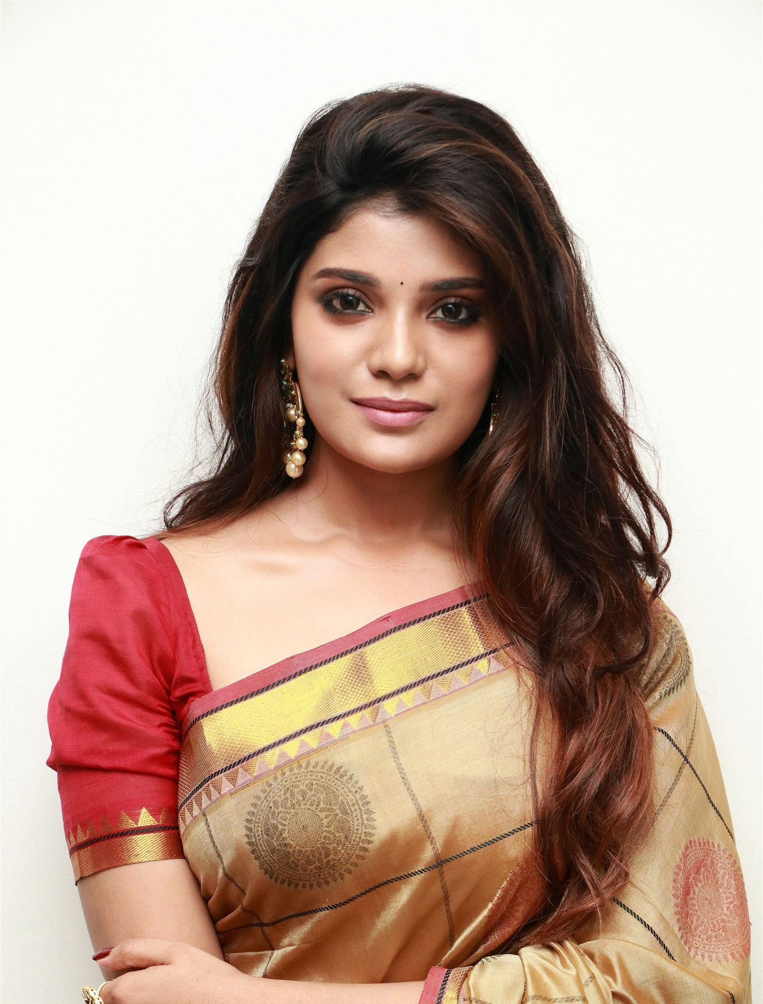 actress-aathmika-silk-saree-photos-hd-1
