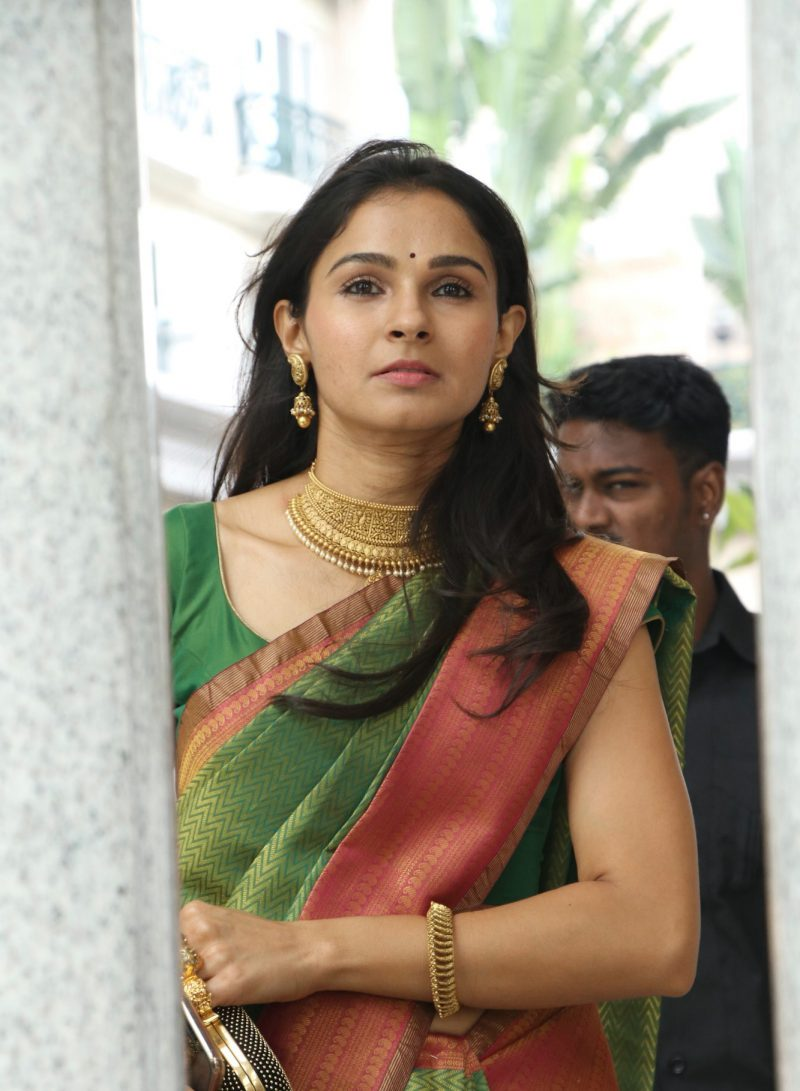 actress-andrea-jeremiah-silk-saree-images-2.