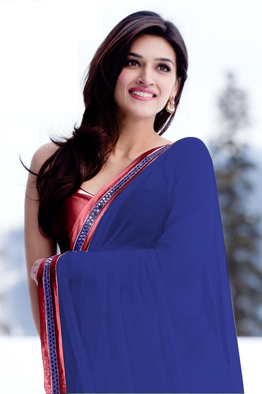 kriti-sanon-saree-navel